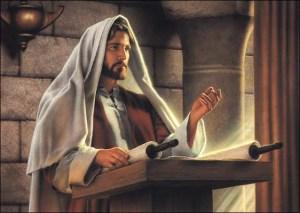 Jezus leest voor