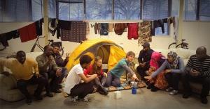 Persbeeld Wintercamping